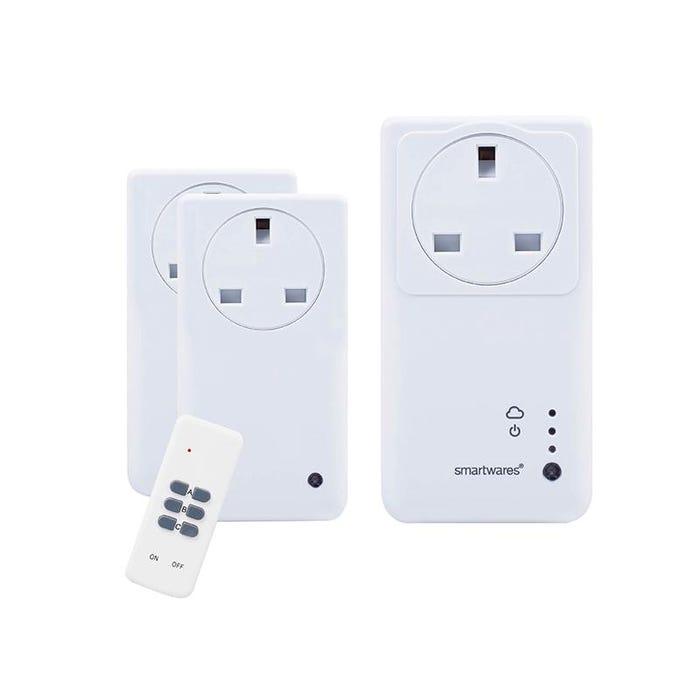 SmartHome Remote Control WiFi Socket Set With App 3 Piece