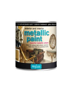 Exterior & Interior Metallic Paint Silver 1 Litre