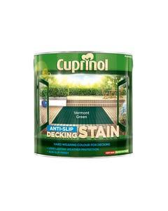 Anti-Slip Decking Stain Vermont Green 2.5 Litre