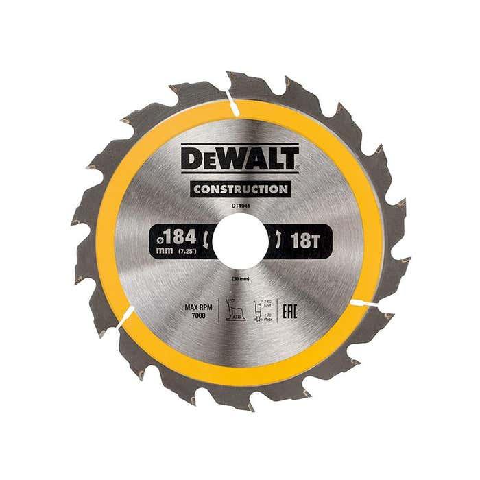 Portable Construction Circular Saw Blade 184 x 30mm x 18T