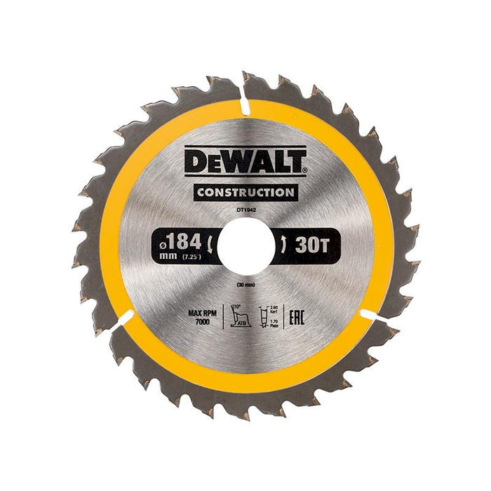 Portable Construction Circular Saw Blade 184 x 30mm x 30T