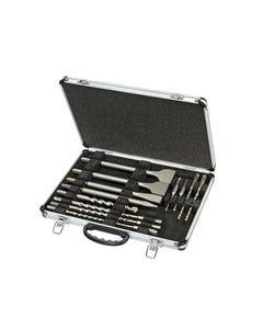 DT9670 SDS Plus Drill & Chisel Set In Aluminium Case 15 Piece