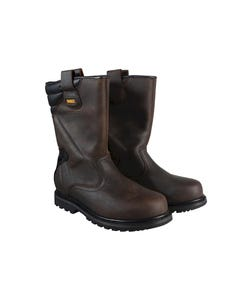 Classic Rigger Brown Safety Boots UK 8 Euro 42