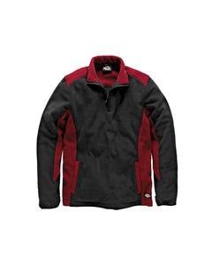 Two Tone Red/Black Micro Fleece - L (44-46in)