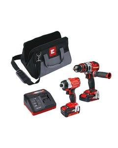 Power-X-Change Brushless Twin Pack 18V 1 x 2.0Ah & 1 x 4.0Ah Li-ion