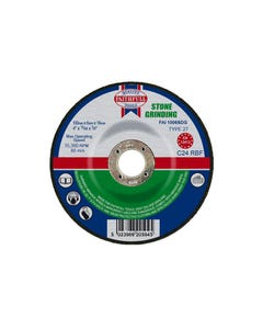 Depressed Centre Stone Grinding Disc 100 x 6 x 16mm