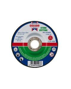 Depressed Centre Stone Cutting Disc 125 x 3.2 x 22.23mm