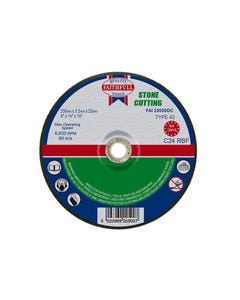 Depressed Centre Stone Cutting Disc 230 x 3.2 x 22.23mm
