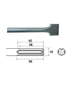 SDS Max Straight Scaling Chisel 75 x 300mm