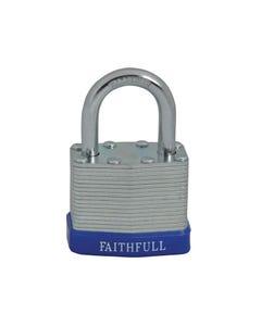 Laminated Steel Padlock 40mm 3 Keys