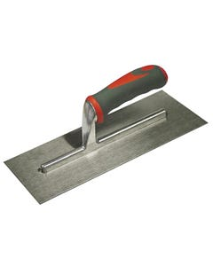 Plasterer's Finishing Trowel Stainless Steel Soft Grip Handle 13 x 5in