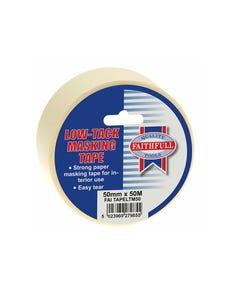 Low Tack Masking Tape 50mm x 50m