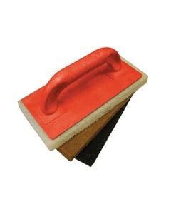 Scouring Pad Holder + Fine Medium & Coarse Pads