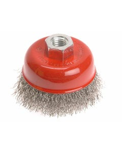 Wire Cup Brush 80mm x M14 x 2 Stainless Steel 0.30mm