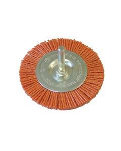 Nylon Wheel Flat 75mm x 6mm Shank
