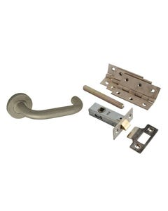 Return To Door Handle Pack Stainless Steel