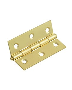 Loose Pin Butt Hinge Brass Finish 75mm (3in) Pack of 2