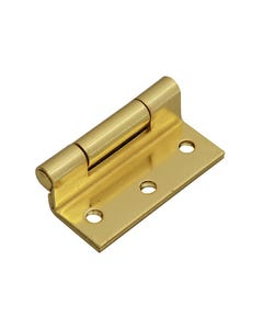 Stormproof Hinge Brass Finish 63mm (2.5in) Pack of 2