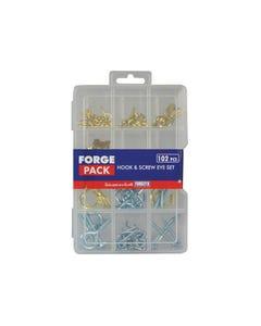 Hook & Screw Eye Kit ForgePack 102 Pieces