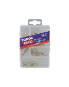 Picture Hook Kit Forge Pack 28 Piece