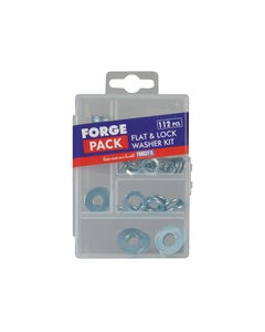 Flat Washer Kit ForgePack 112 Piece