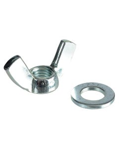 Wing Nut & Washers ZP M12 Forge Pack 4