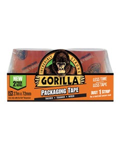 Gorilla Packaging Tape 72mm x 27m Refill Pack of 2