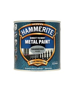 Direct to Rust Hammered Finish Metal Paint Silver 2.5 Litre