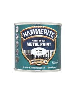 Direct to Rust Satin Finish Metal Paint White 250ml