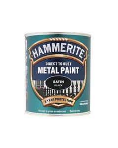 Direct to Rust Satin Finish Metal Paint Black 750ml