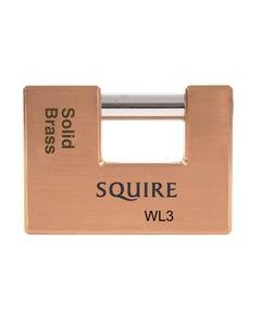 WL3 Solid Brass Warehouse Padlock 90mm
