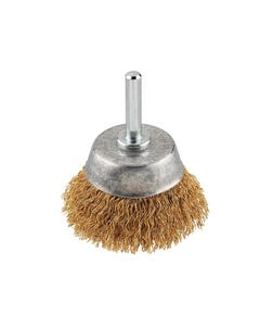 Crimped Brass Wire Cup Brush 50mm Fine