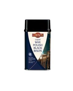 Liquid Wax Polish Black Bison Dark Oak 500ml