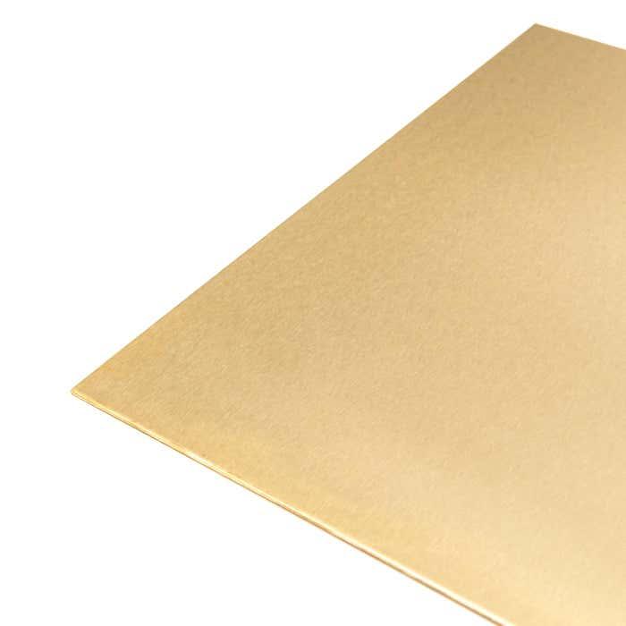 Brass Sheet 0.9mm satin polished