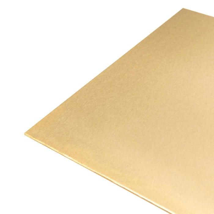 Brass Sheet 1.5mm satin polished