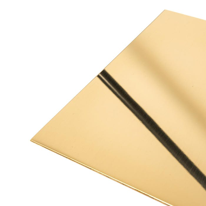 Brass Sheet 0.9mm bright polished