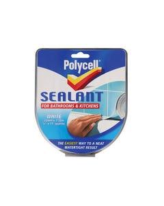 Sealant Strip Kitchen / Bathroom White 22mm