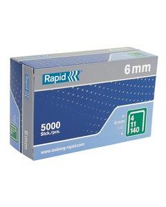 140/6 6mm Galvanised Staples Box of 5000