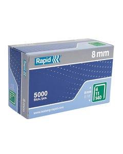 140/8 8mm Galvanised Staples Box 5000