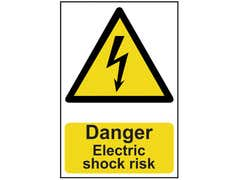 Danger Electric Shock Risk - PVC 200 x 300mm