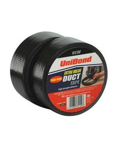 Duct Tape Black 50mm x 50m Twin Pack