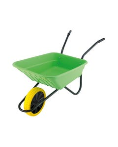 Boxed 90L Lime Polypropylene Wheelbarrow - Puncture Proof