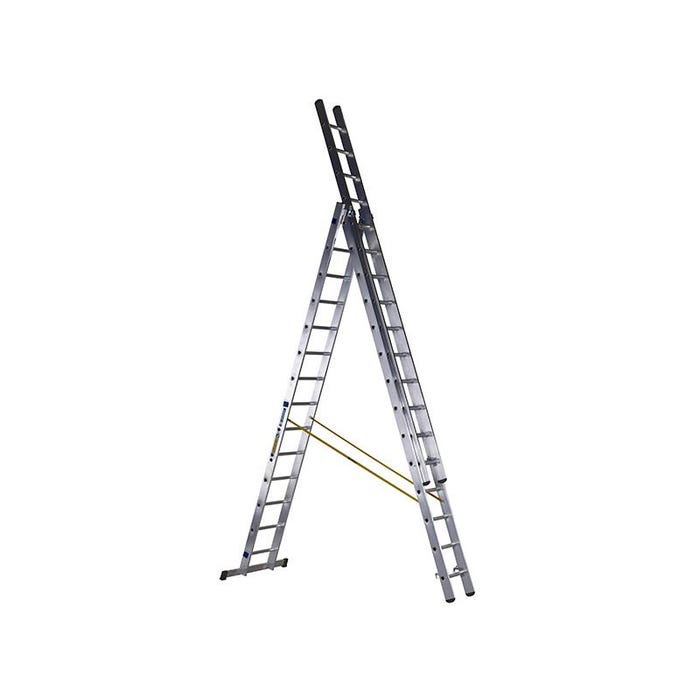 D-Rung Combination Ladder 3-Part 3 x 14 Rungs
