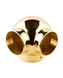 38mm Brass Ball Fittings Brass Side Outlet Elbow 38mm