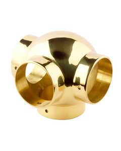 38mm Brass Ball Fittings Brass Side Outlet Tee 38mm