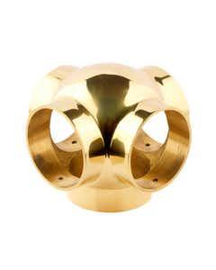38mm Brass Ball Fittings Brass Side Outlet Cross 38mm