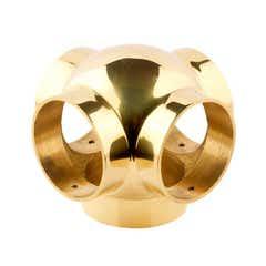 51mm Brass Ball Fittings Brass Side Outlet Cross 51mm