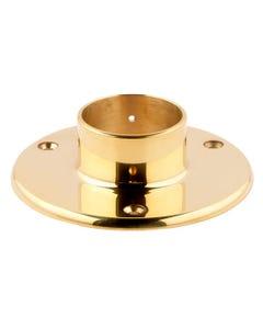 51mm Brass End Caps, Flanges & Finials Floor Flange (Screw In)