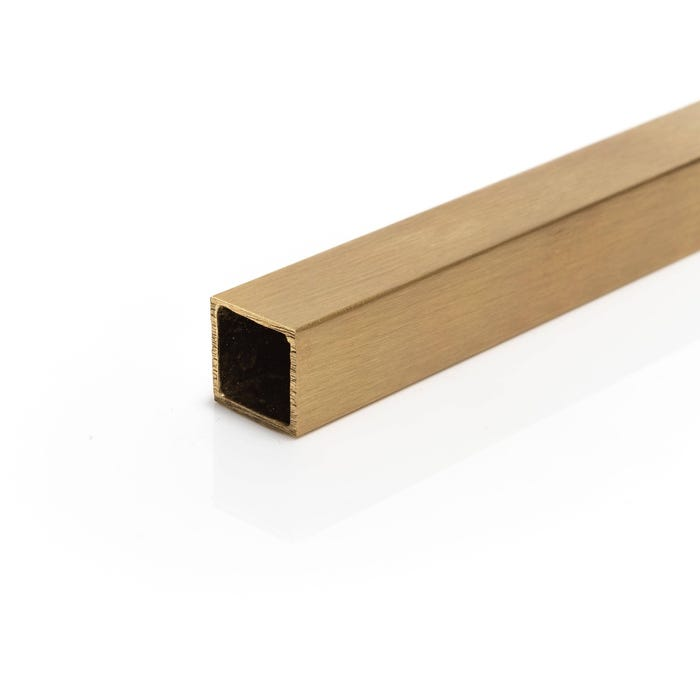 Brushed Polished Brass Box Section 40mm x 20mm x 1.5mm