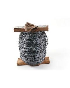Barbed Wire Wood Reel Galvanised